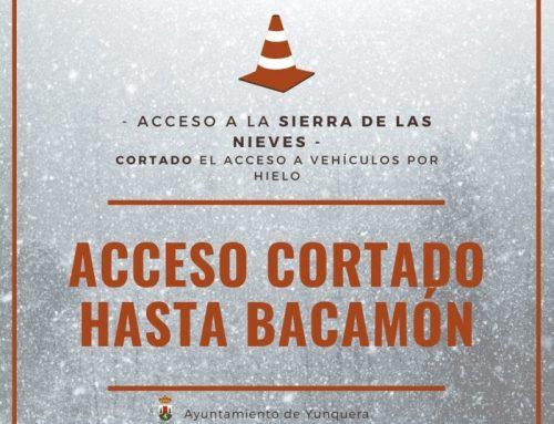Se corta el acceso a vehículos a la Sierra de las Nieves.