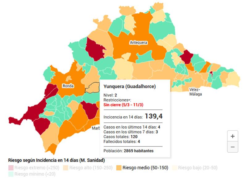 mapa-covid-andalucia-datos-yunquera-nivel-2-marzo-2021