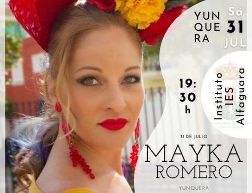 La voz de Mayka Romero estará en Yunquera.