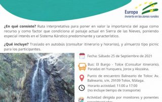 Conoce las cascadas del Parque Nacional de la Sierra de las Nieves